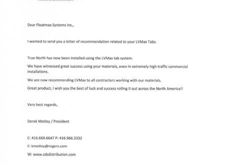 CDS Distribution Endorsement Letter