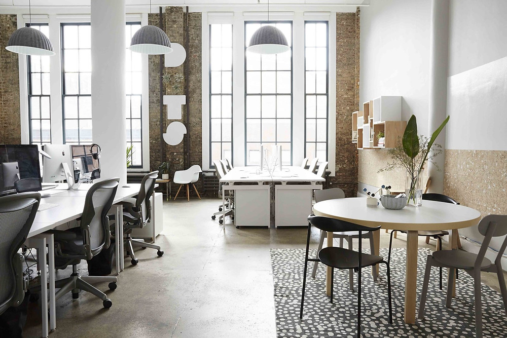 Scandinavian Inspires Office - Dots NY