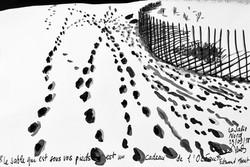 La Salie, Tusche auf Papier