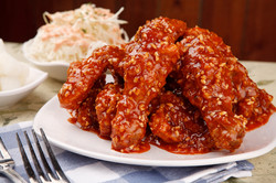 Fried Chicken With Spicy Sauce