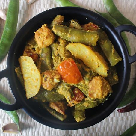 Simba Rai(Besara)/Broad beans cooked in mustard gravy
