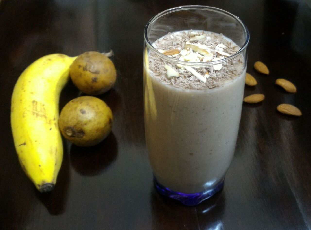 Chicoo Banana Smoothie