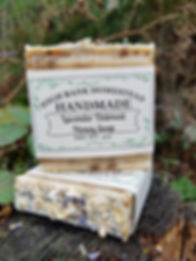 Handmade Lavender Oatmea Honey Soap mae by Hig Bank Homsead
