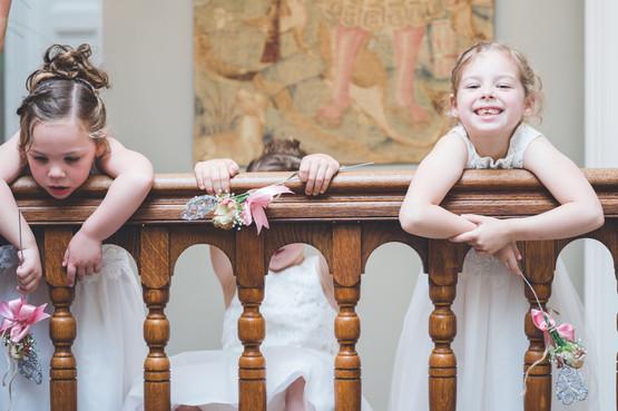 flower girls at homewood park bath wedding venue