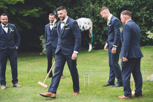 groomsman at homewood park bath wedding venue