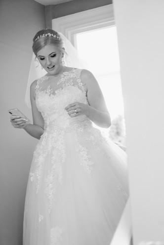 bride at homewood park bath wedding venue