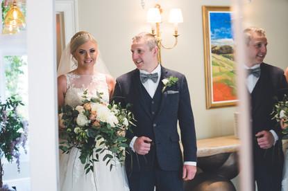 bride and farther at homewood park bath wedding venue