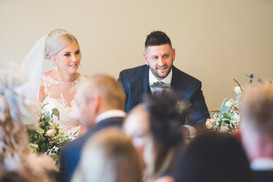 smiling bride and groom at homewood park bath wedding venue