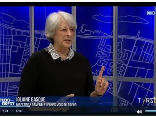 Entrevue de Jolaine Basque sur TVRS