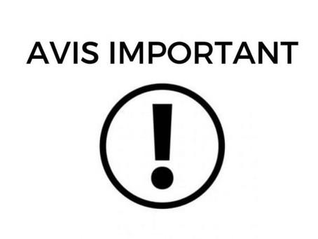 Avis important : Covid-19