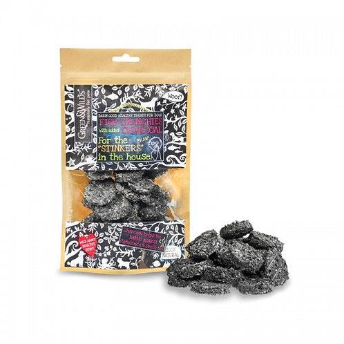 Charcoal fish crunchies