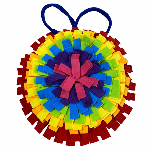 Round Snuffle mat - with free bag of natural treats