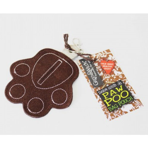 Suede Paw Poo Bag Pouch