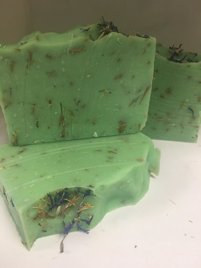 Meadow-grass and Wildflower Goats Milk Soap