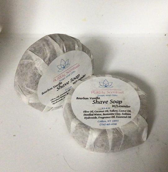 Bourbon Vanilla Shave Soap w/Lavender