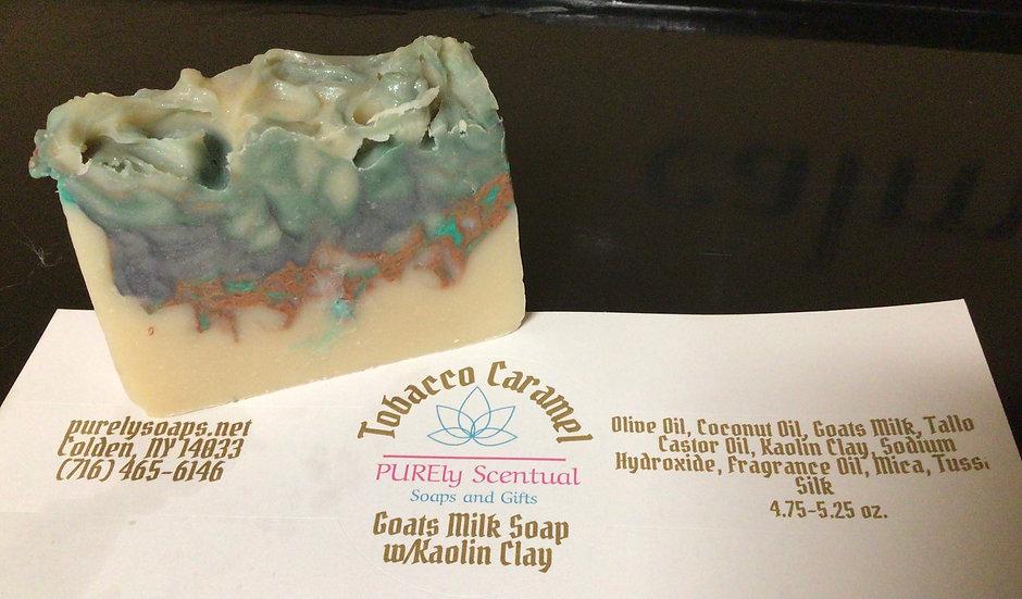 Tobacco Caramel Goats Milk Soap w/kaolin clay