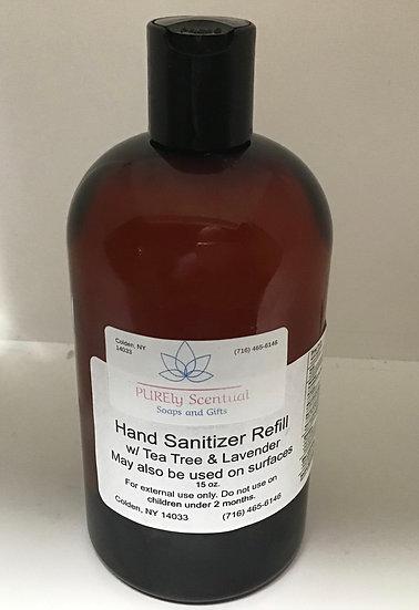 Hand/Surface Sanitizer  w/Lavender & Tea Tree REFILL