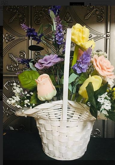 Basket of Soap Flowers