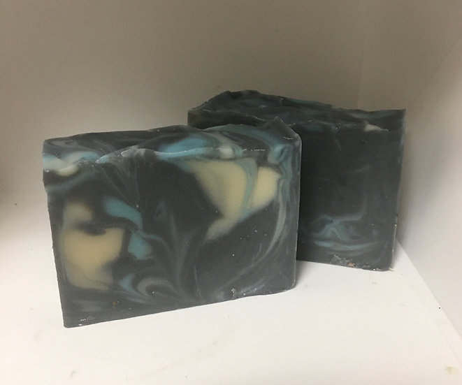 Sandalwood Goats Milk Soap w/Activated Charcoal and bentonite Clay