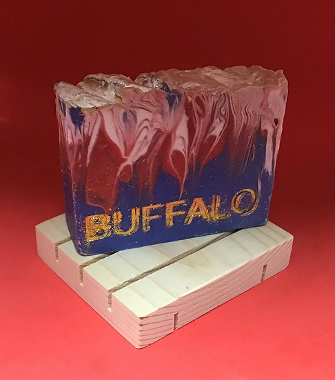 GO BILLS! Soap on a wooden soap deck