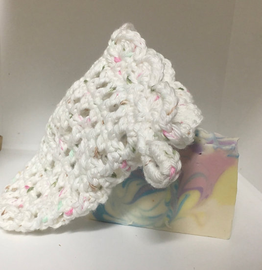 Hand Crochet Soap Bag and Cold Process Soap
