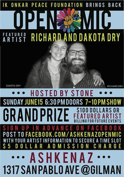 Flyer for Father's Day Featured Artist Show