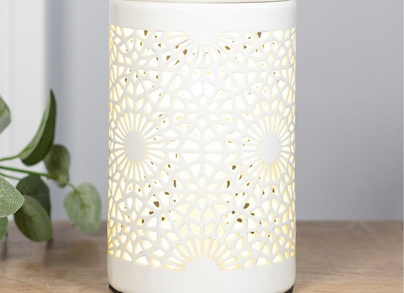 Circle cut out electric warmer