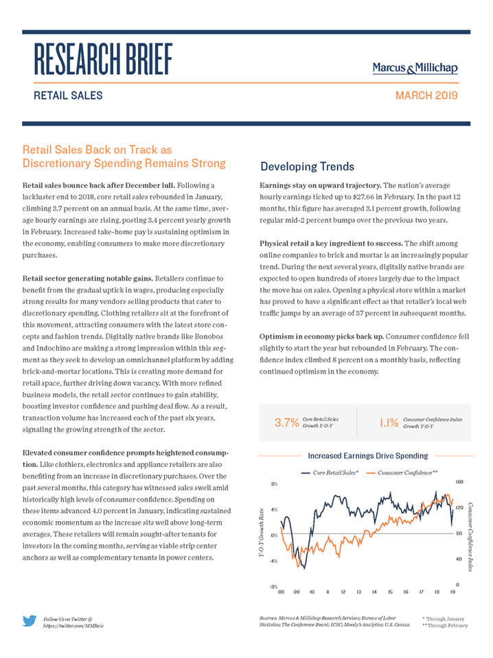 March 2019 | Retail Sales Research Brief