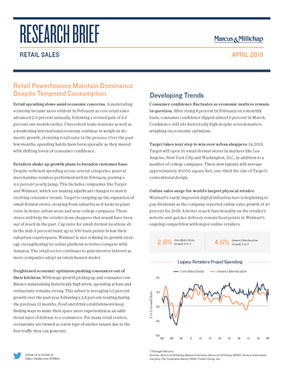 April 2019 | Retail Sales Research Brief