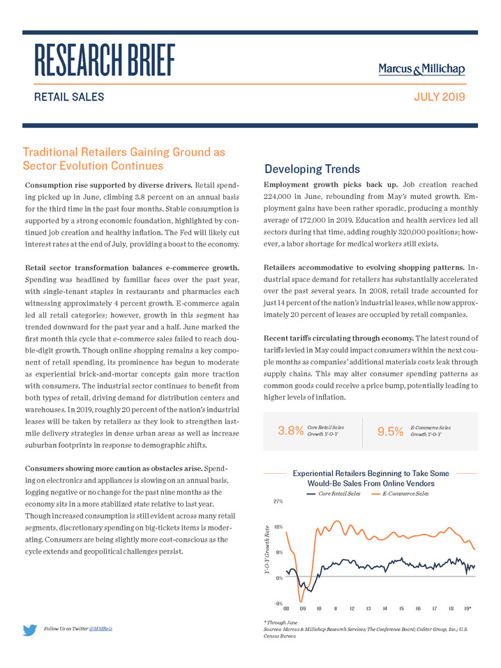 July 2019 | Retail Sales Research Brief