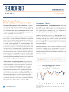 October 2019 | Retail Sales Research Brief