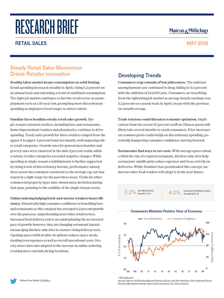 May 2019 | Retail Sales Research Brief
