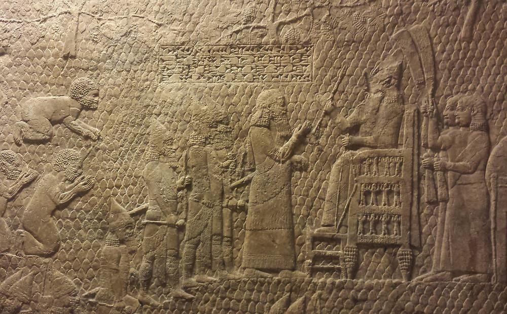 The throne of Sennacherib (Albert Tour Guide Israel)