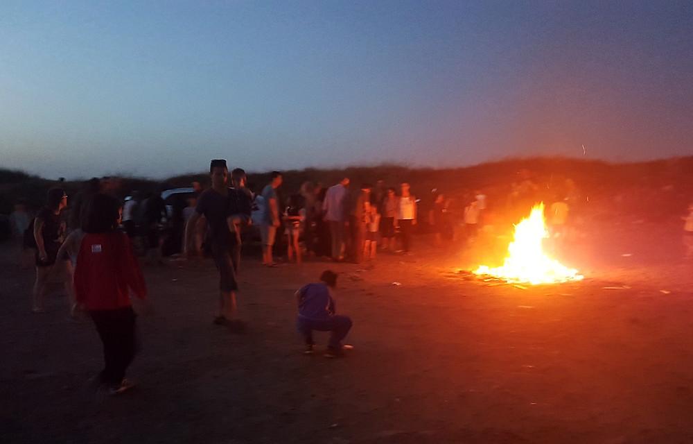 CelebratingLag BaOmer on the beach (Albert Tour Guide Israel)
