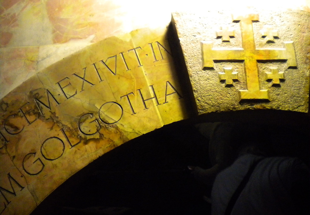 Acces to the Golgotha (Albert Tour Guide Israel)