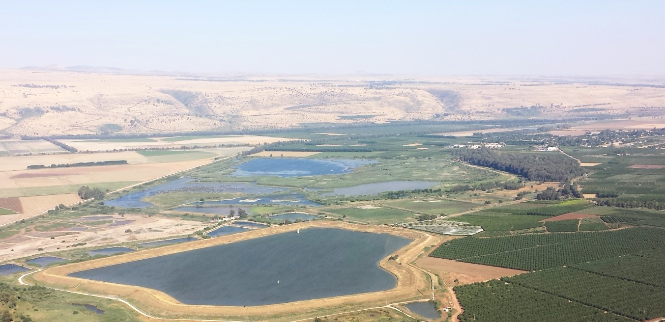 Hula Valley from Keren Naphtali