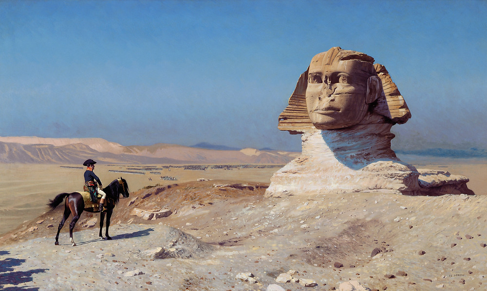 Bonaparte et le Sphinx par Gérôme (Albert Tour Guide Israel)