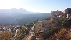Safed cemetery and Mount Meiron