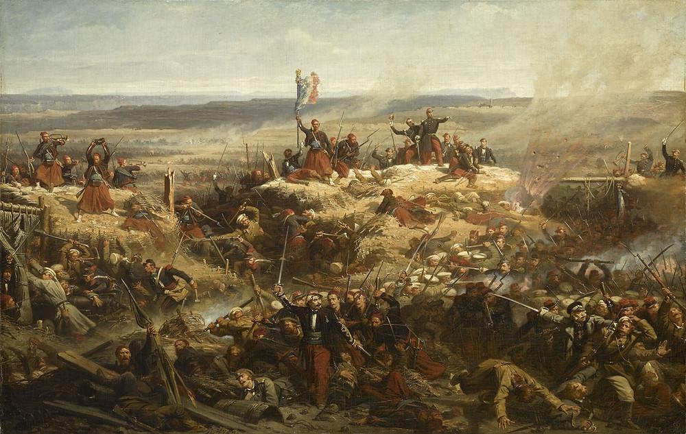 Guerre de Crimée: prise de Malakoff en 1855
