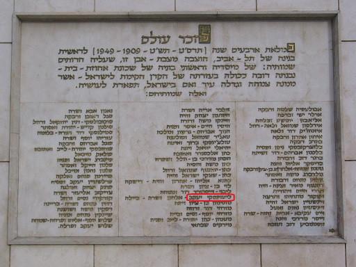 Monument des fondateurs de Tel Aviv