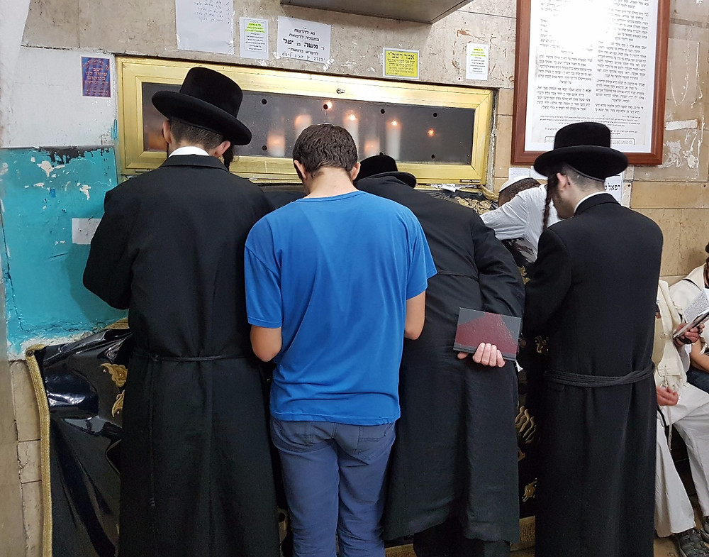 Prayers at the tomb of Shimon bar Yohai (Albert Tour Guide Israel)