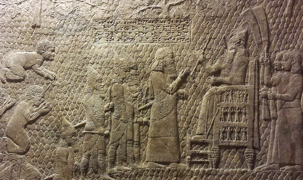 Sennacherib inscription on Lachish relief: Sennacherib, king of the world, king of Assyria