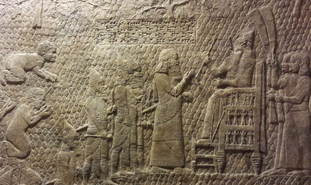 The throne of Sennacherib at the siege of Lachish