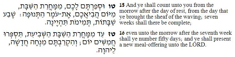 Leviticus, Counting of the Omer (Albert Tour Guide Israel)
