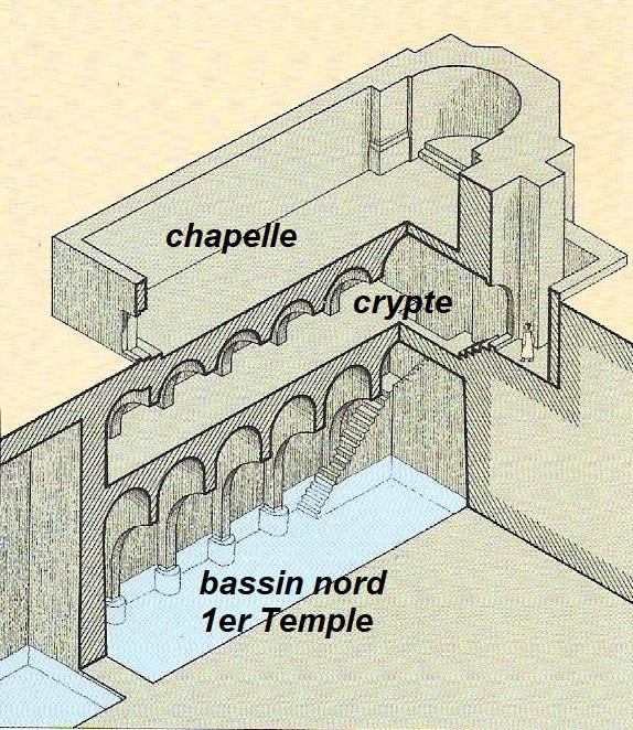 Plan du moustier croisé, 11è siècle