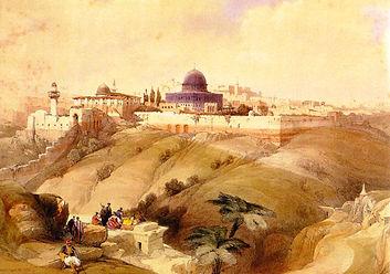 Jerusalem, 19th century engraving
