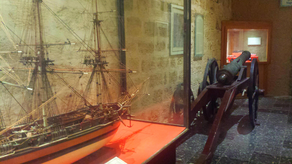 Salle Napoléon au musée de Dor (Albert Tour Guide Israel)
