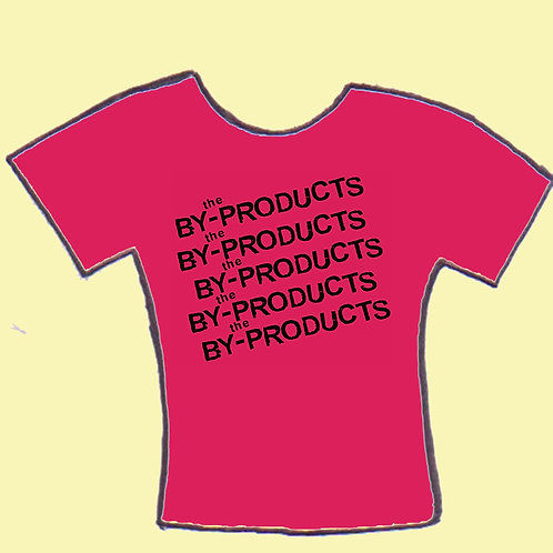 the By-Products pink logo men's tee