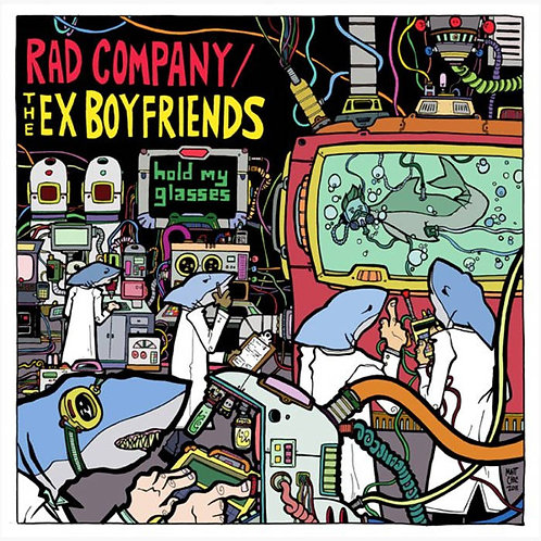 Rad Co./Ex Boyfreinds 'Hold my glasses' Split LP