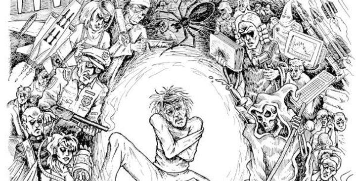 "Government Warning ""Paranoid mess"" LP"